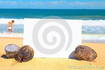 Anuncio de la playa