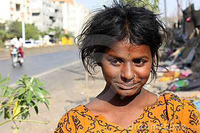 Anxious Beggar Teenager