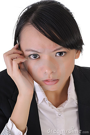 Free Anxious Business Woma Royalty Free Stock Photos - 15857148