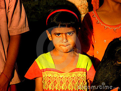 Anxious Indian Girl