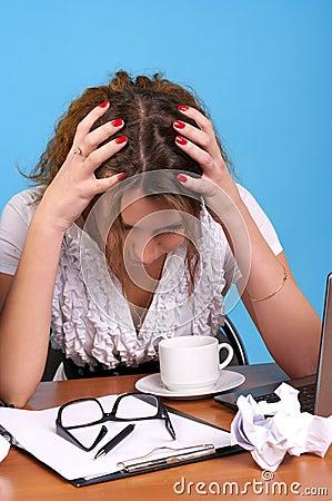 Free Anxious Woman Stock Photo - 17009500