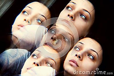 Anxious woman concept
