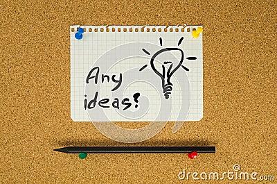 Any Ideas?