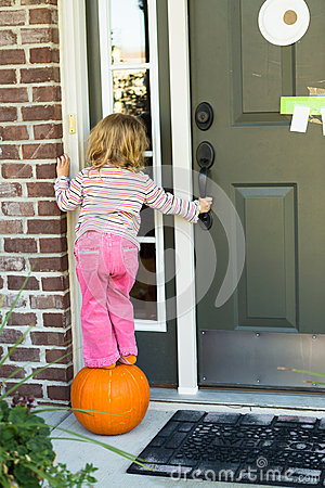 Free Anybody Home I M Hoping To Get Some Candy Treat Royalty Free Stock Photo - 34868845