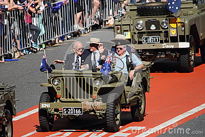 Anzac day commemorations Editorial Stock Photo