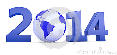 Año 2014 con el globo como cero