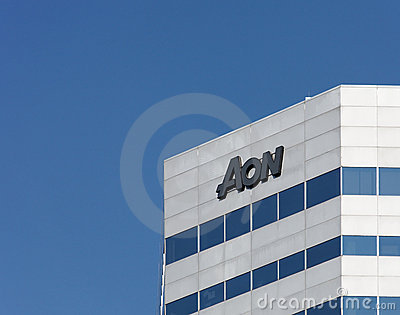 Aon Building Editorial Stock Photo
