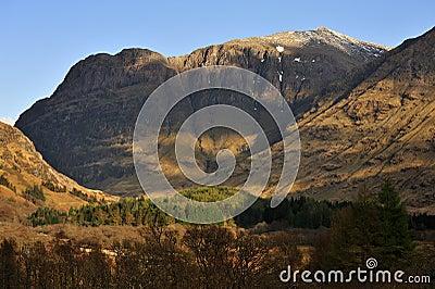 Aonach dubh, winter, Glencoe, Scotland
