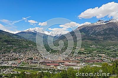Aosta city