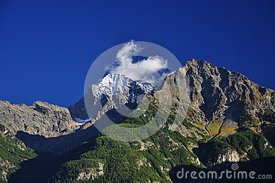 Aosta Valley, Italy. Mountain peaks