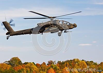 Apache AH 64 Gunship Helicopter Editorial Photo