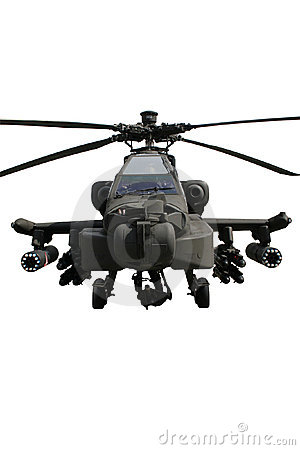 Free Apache Helicopter Isolated Royalty Free Stock Image - 16489976