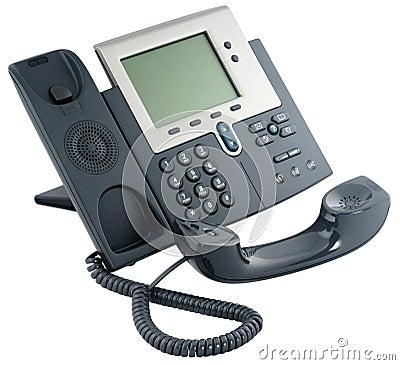 Aparato de teléfono digital de la oficina, off-hook