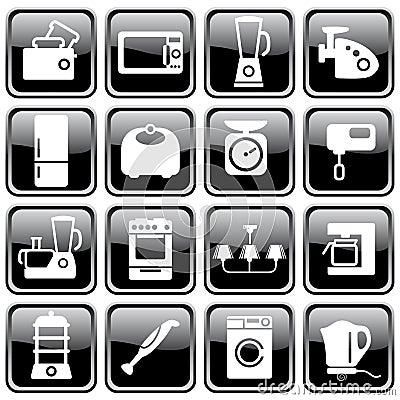 Aparatos electrodom sticos de la cocina foto de archivo for Aparatos de cocina