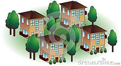 Apartamentos da vizinhança