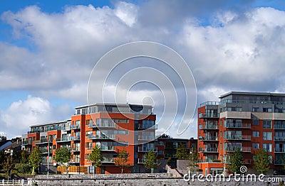 Apartamentos modernos novos