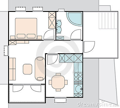 Apartment architecture plan stock photography for Apartment stock plans