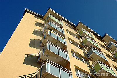 Apartment Building Balconies Royalty Free Stock Photos - Image: 12904348