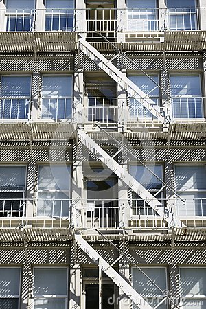 Apartment Building Fire Escape Stairs