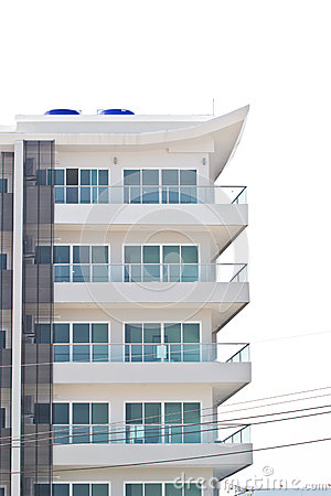 Apartment building - a modern building