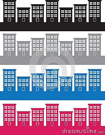 Apartment Buildings Colors