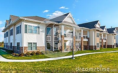 apartment complex stock photos image 38419223