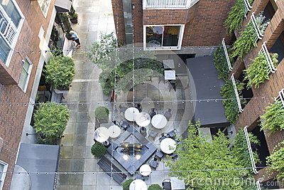 Apartment courtyard