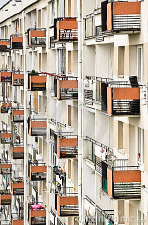 Free Apartment House Wall - Rows Of Balconies Royalty Free Stock Photos - 19967228