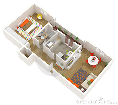Modern Interior Design 3d Home Project Apartment Stock Photos Image 23923183