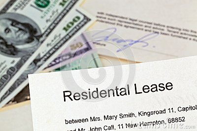 Apartment keys and rental agreement