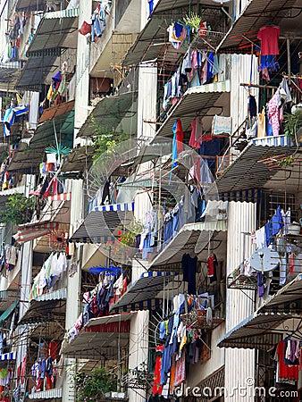 Free Apartment Laundry Malaysia Stock Image - 738591
