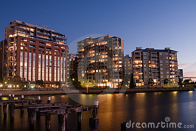 Apartment living on the waterfront.