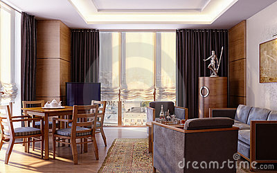Apartment in modern style