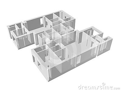 Apartment transparent plan