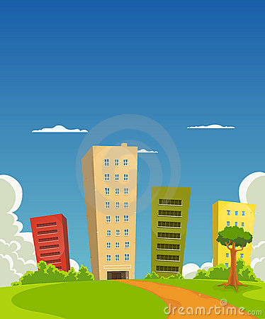 Free Apartments And Offices Building Stock Image - 21974971
