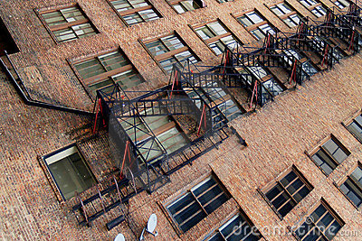 apartments and fire escape stock photos image 684353