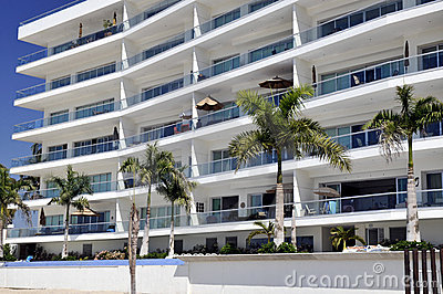 Apartments on Mexican beach
