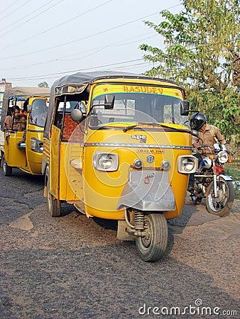 Ape Piaggio indian auto rickshaw Editorial Stock Photo