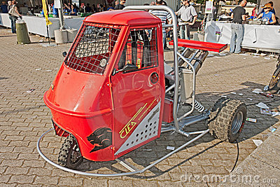 Ape Piaggio tuned Editorial Stock Photo