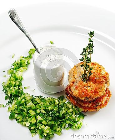 Aperitif - Mini Salmon Steak