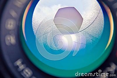 Aperture photocamera lense reflection