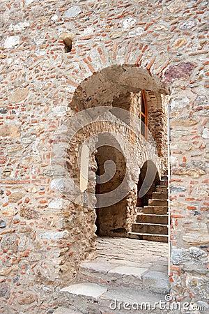 Aperçu dans la ville Mystras