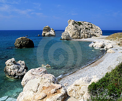 Aphrodite s birthplace on the island of Cyprus