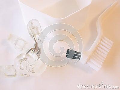 Aplicación dental usada para el apnea de sueño