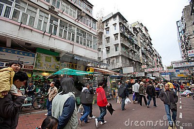 Apliu Street, Hong Kong Editorial Stock Image