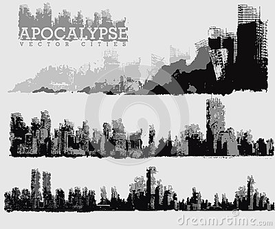 Apocalyptic city illustration
