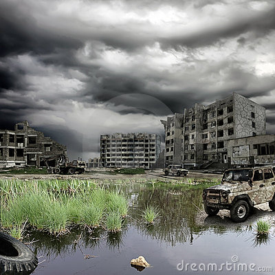 Free Apocalyptic Landscape Royalty Free Stock Images - 19550609