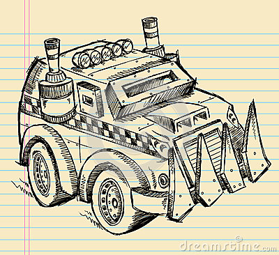 Apocalyptic Vehicle Truck Sketch