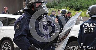 Apoio da polícia de motim
