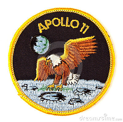 Free Apollo 11 Mission Space Suit Badge Royalty Free Stock Photos - 21775998